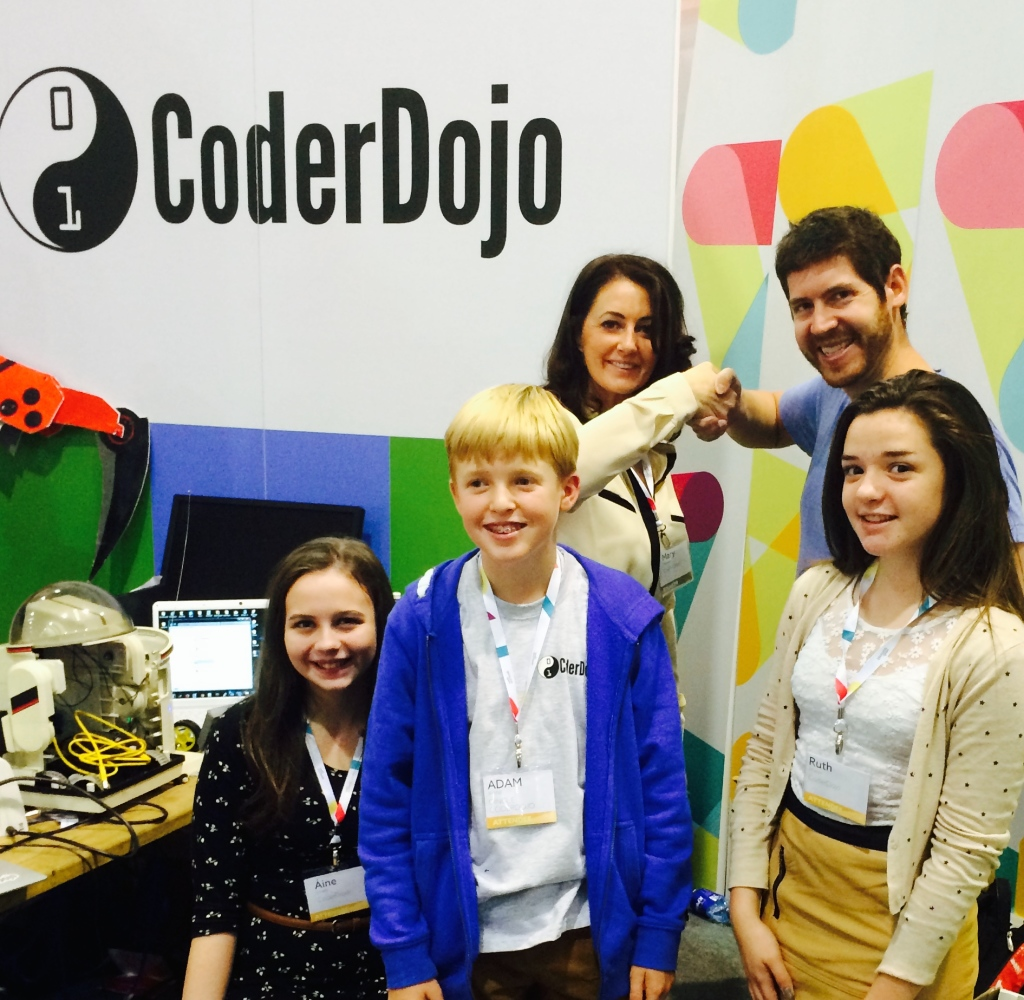Tom Preston Werner of codestarter visits Coderdojo at Web Summit