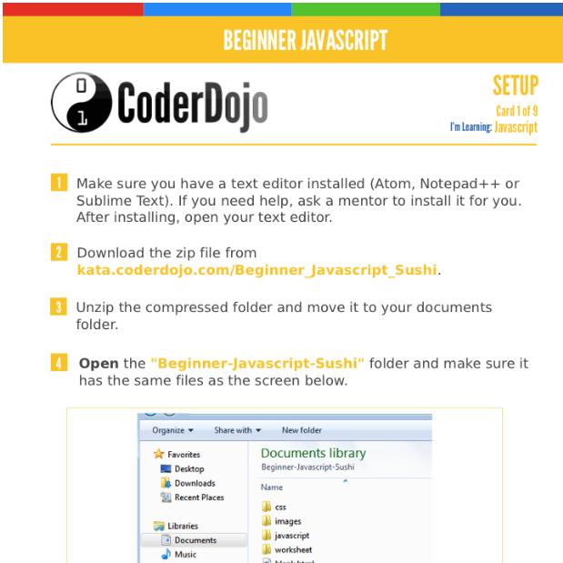 Brand New Content: Dojo Beginner JavaScript Sushi Cards