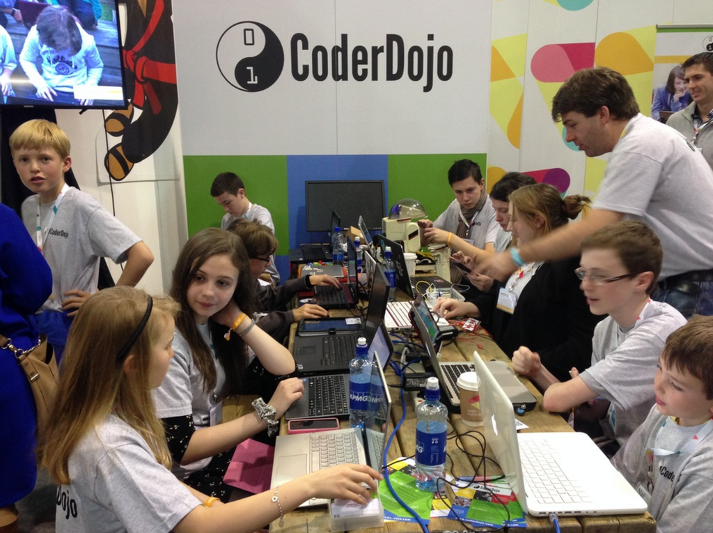 CoderDojo web summit 2015 booth