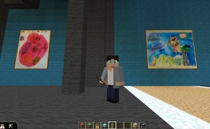 CD10 Real paintings in Minecraft