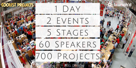 1 Day5 Stages60 Speakers700 Projects