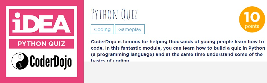 iDEA Python Quiz - Full Image